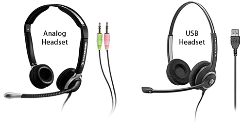 Analog & USB Headsets
