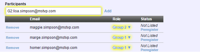 Assigning participant groups
