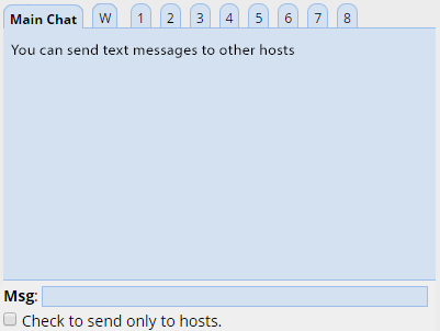 Dashboard Text Chat