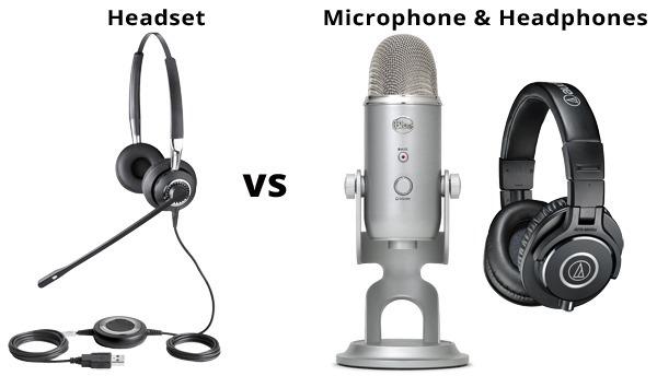 Headset vs Mic & Headphones