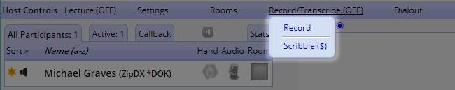 Host Controls - Record