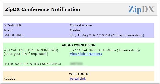 Meeting Invitation South Africa