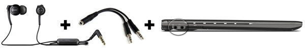 Mobile Headset - adapter - laptop