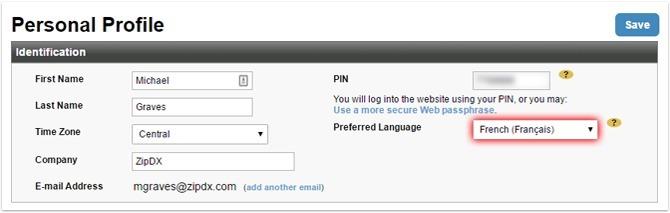 Profile Preferred Language Banner