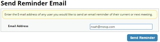 Send Reminder Email