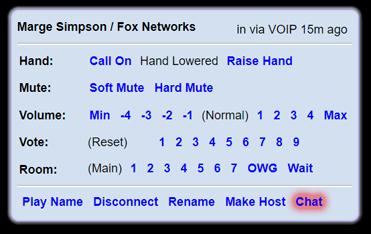 dashboard submenu chat