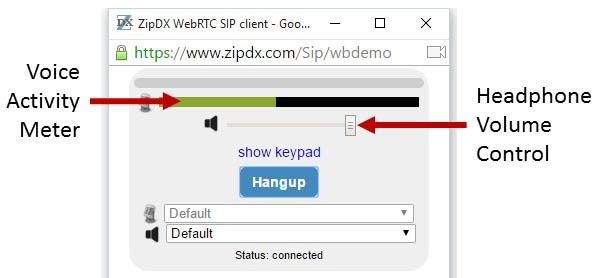 webphone UI basics